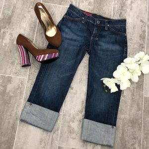 AG ADRIANO GOLDSCHMIED The Shorty Crop Jeans